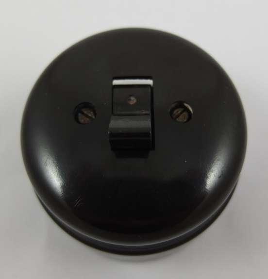 lichtschalter kippschalter bauhaus bakelit aufputz antique light switch m ebay. Black Bedroom Furniture Sets. Home Design Ideas